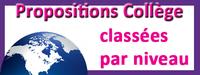 Propositions pédagogiques classées par niveau