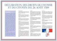 La Déclaration des Droits de l'Homme et du Citoyen,